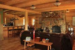 Living Room at the Cool Creek Lodge in Yaak Montana