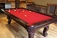 The Game Room at the Cool Creek Lodge