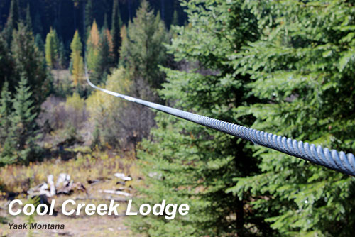 Zip Line at the Cool Creek Ranch